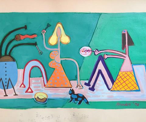 Untitled, 1976, acrylic, 20 x 11, $340