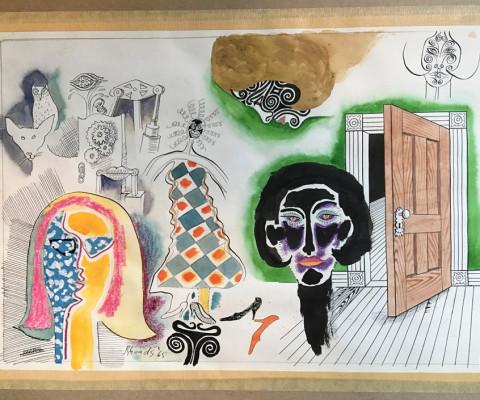 Untitled, 1965, mixed media, 9 x 13, $220