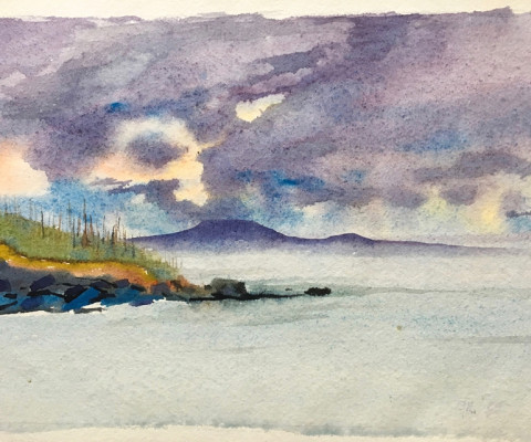 Untitled, 1950's, watercolor, 7 x 10, $250