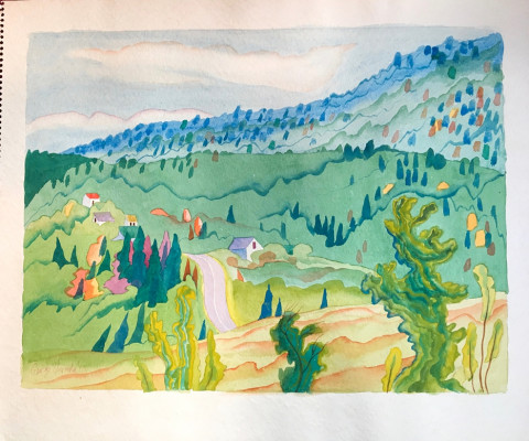 Untitled, 1965, watercolor, 15 x 18, $250