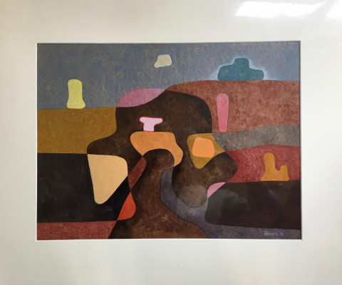 Desert Forms, 1996, mixed media, 20 x 17, $175