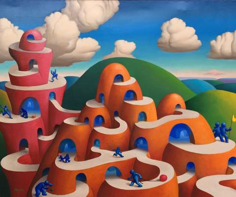 Habitat for Blue, 1980, acrylic, 36 x 48, $1,200