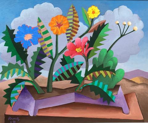 Mountain Flowers, 1988, acrylic on panel, 16 x 20, $300